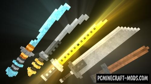 3D Swords Resource Pack For Minecraft 1.16.4, 1.16.3, 1.15.2