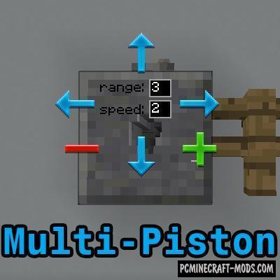 Multi-Piston Mod For Minecraft 1.12.2