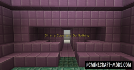 Sit in a Cube and Do Nothing Map For Minecraft