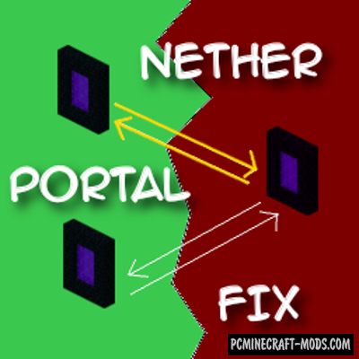 NetherPortalFix - Tweak Mod For MC 1.16.5, 1.16.4, 1.12.2