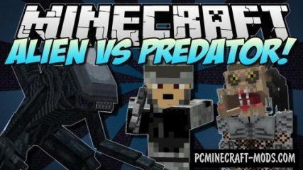 Aliens vs Predator Mod For Minecraft 1.12.2, 1.10.2, 1.7.10