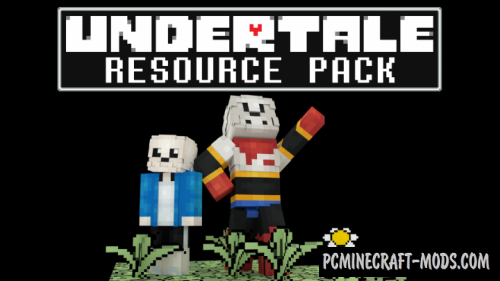 mcpe undertale map download