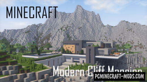 Modern Cliff Mansion Map For Minecraft