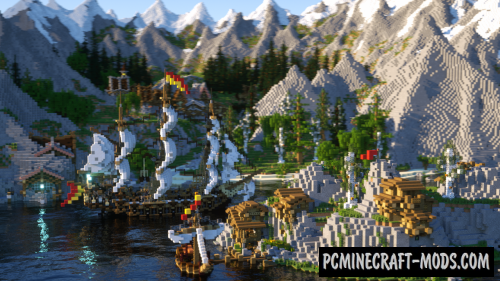 Riverside Valley Map For Minecraft
