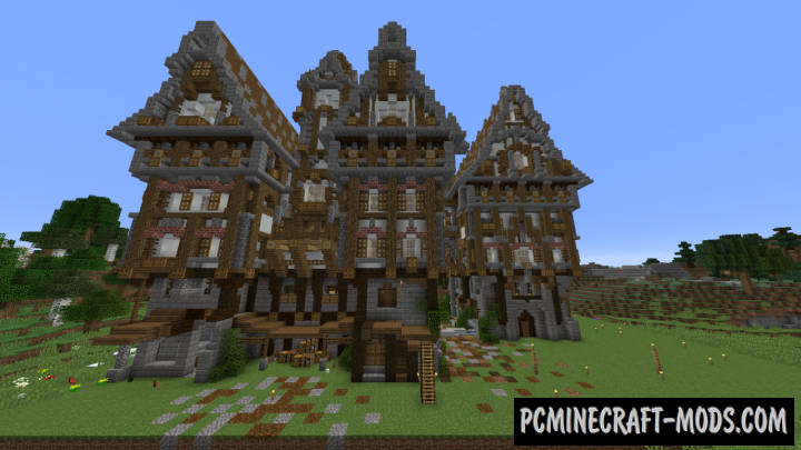 Medieval Urban Manor Map For Minecraft