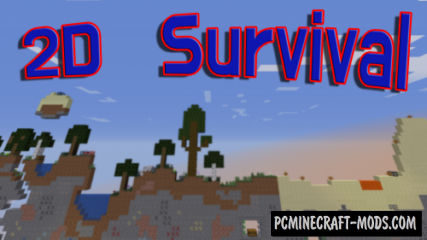 2D Survival! Map For Minecraft
