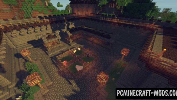 Medieval Fantasy Town Map For Minecraft