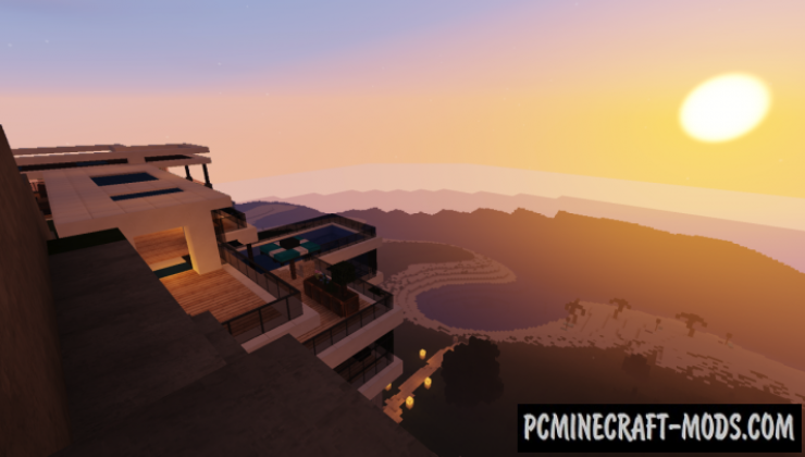 Cliff Side Private Mansion Map For Minecraft