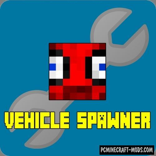 MrCrayfish's Vehicle Spawner Mod For Minecraft 1.12.2
