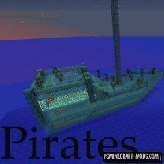 Pirates - Sea Adventure, Guns Mod For Minecraft 1.12.2