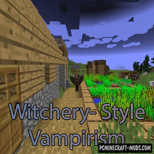 Witchery-Style Vampirism Mod For Minecraft 1.12.2