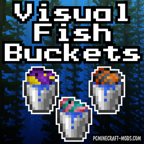 Visual Fish Buckets Resource Pack For Minecraft 1.13.1