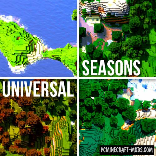 Universal Seasons 256x256 Resource Pack MC 1.15.2, 1.14.4