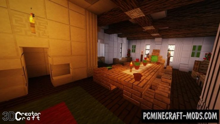 CreatorCraft 3D Shaders Texture Pack For MC 1.16.5, 1.16.4