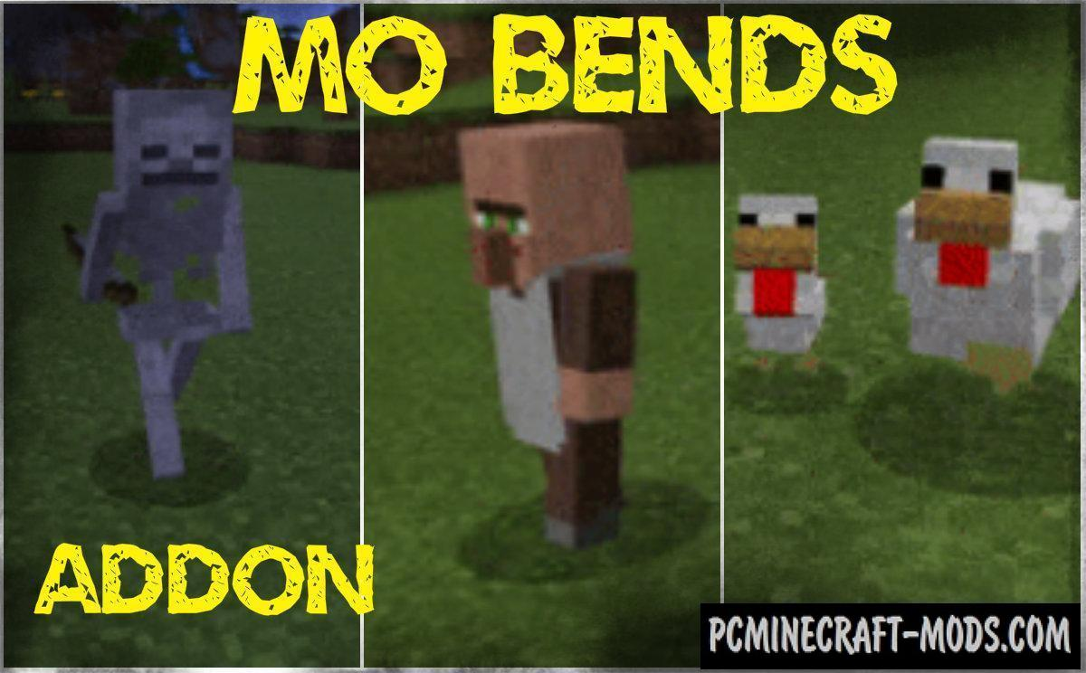 Mo Bends - New Animations Addon Minecraft PE 1.9.0.3, 1.8.1 iOS/Android