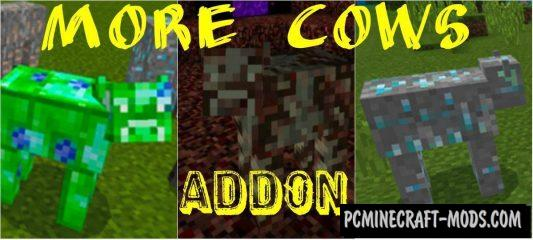 More Cows Minecraft PE Bedrock Addon 1.11, 1.10, 1.9.0