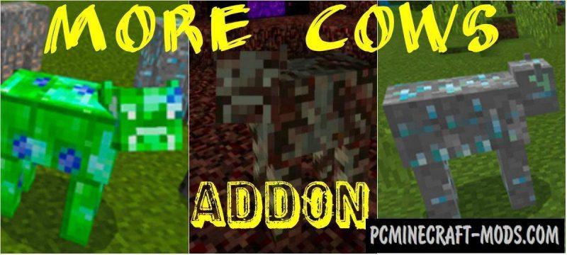 More Cows Minecraft PE Bedrock Addon 1.11, 1.10, 1.9.0