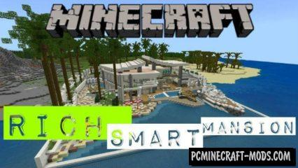 Rich Smart Mansion Map For Minecraft PE 1.9, 1.8, 1.7
