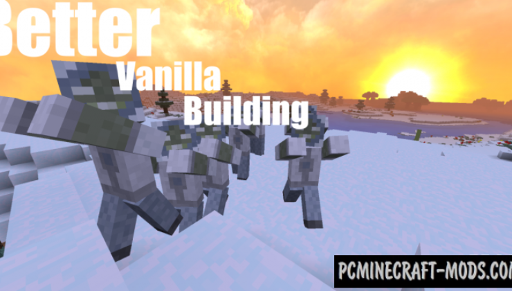 BetterVanillaBuilding Resource Pack For MC 1.15, 1.14.4