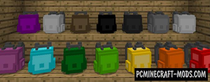 Backpacks Minecraft PE Addon 1.11, 1.10, 1.9.0 iOS, Android