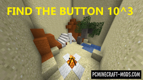 Find The Button 10^3 Map For Minecraft