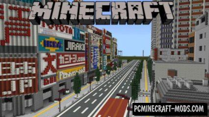 Japanese Modern City Minecraft PE Map iOS/Android 1.9, 1.8