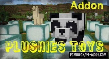 Plushies Toys Pack Addon For Minecraft PE 1.11, 1.10