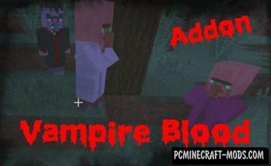 Vampire Blood Addon For Minecraft PE 1.11, 1.10