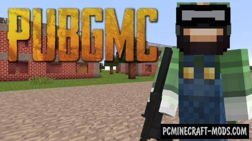 PUBGMC - Guns, Armor Mod For Minecraft 1.12.2