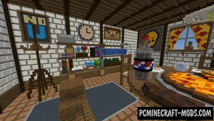 Pizza Hide and Seek Map For Minecraft 1 15, 1 14 4 | PC Java