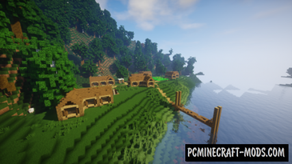 Tiny Lake Town Map For Minecraft
