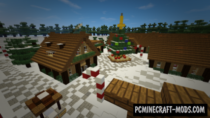 Santa's Christmas Village Map For Minecraft