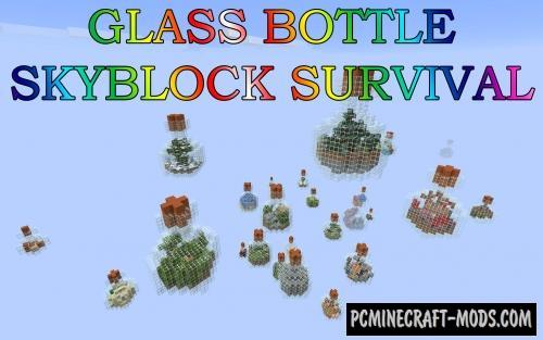 Glass Bottle SkyBlock Survival Map For Minecraft