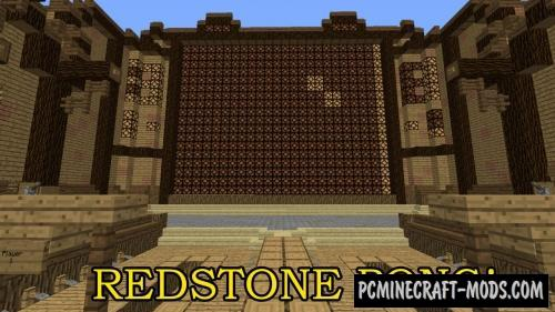 Redstone Pong! Map For Minecraft