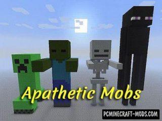 Apathetic Mobs Mod For Minecraft 1.12.2