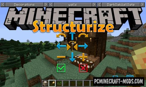 Structurize - Simple World Edit Mod MC 1.16.4, 1.15.2, 1.14.4
