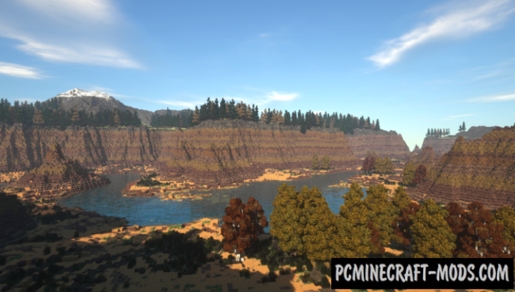 Golden Canyon Map For Minecraft