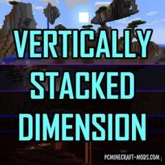 Vertically Stacked Dimensions Mod For Minecraft 1.12.2