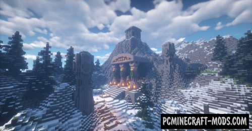 Dwarven City Map For Minecraft 1.15, 1.14.4 | PC Java Mods
