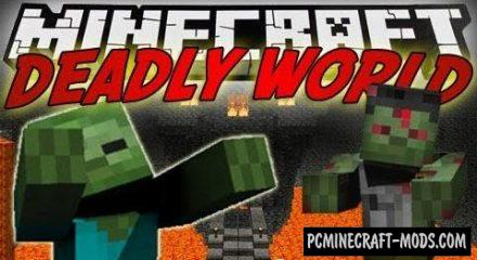 Deadly World Mod For Minecraft 1.12.2, 1.7.10