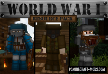 World War I Resource Pack For Minecraft 1.13.2, 1.13.1, 1.13