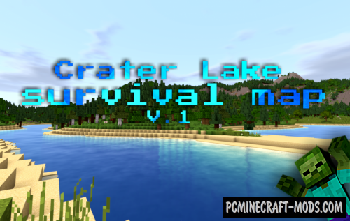 Crater Lake Survival Map For Minecraft