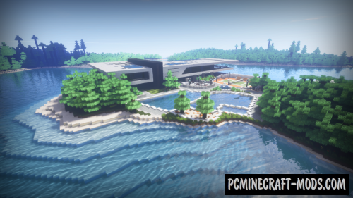 Redtech Modern Island House Map For Minecraft 1 14 4 1 14