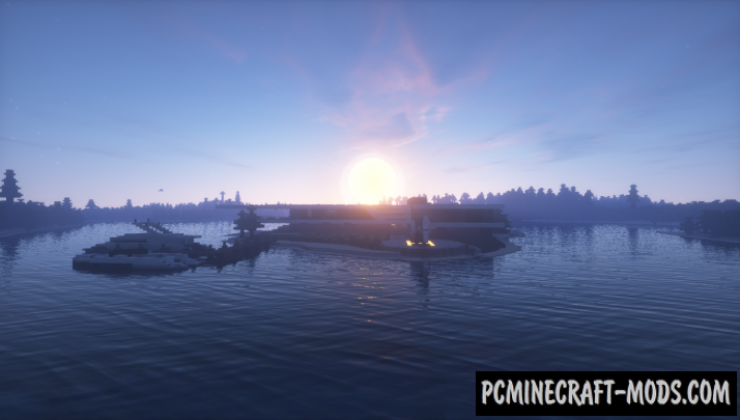 RedTech Modern Island House Map For Minecraft