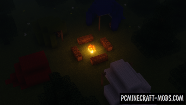 Camp Survival Map For Minecraft