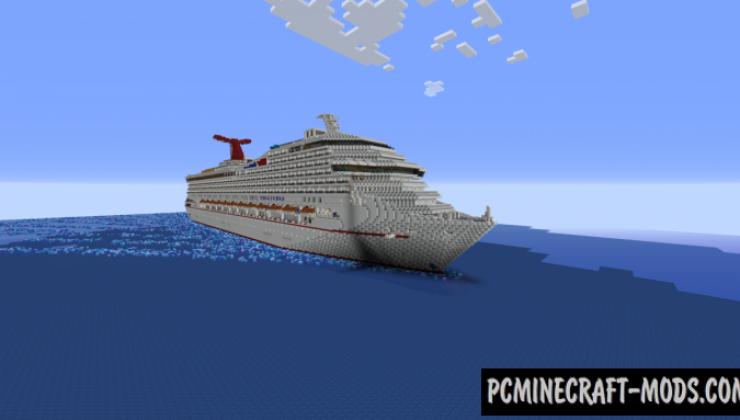 Carnival Triumph - Cruise Ship Replica Map For Minecraft