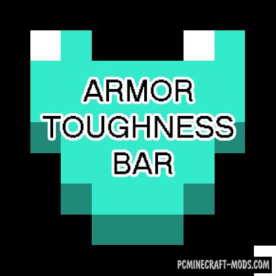 Armor Toughness Bar - HUD Mod For Minecraft 1.16.5, 1.12.2