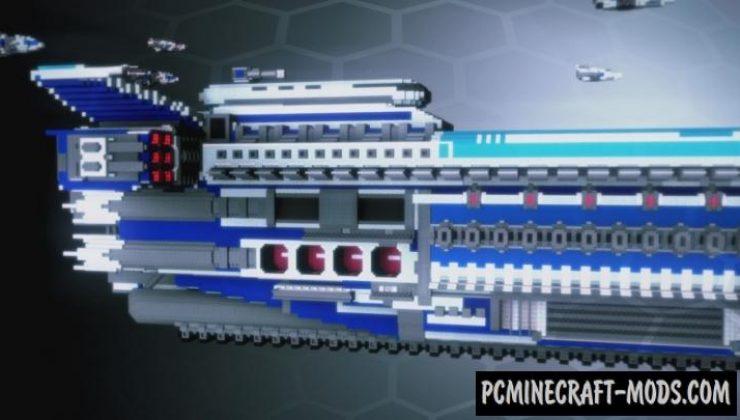 Spaceship Blu 01 Map For Minecraft