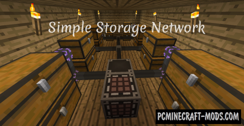 Simple Storage Network - Tweak Mod MC 1.16.5, 1.12.2