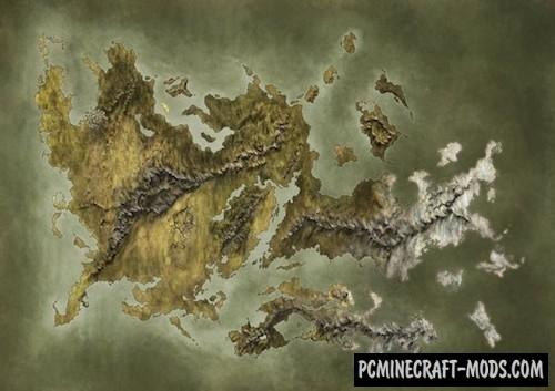 Large Island Map For Minecraft